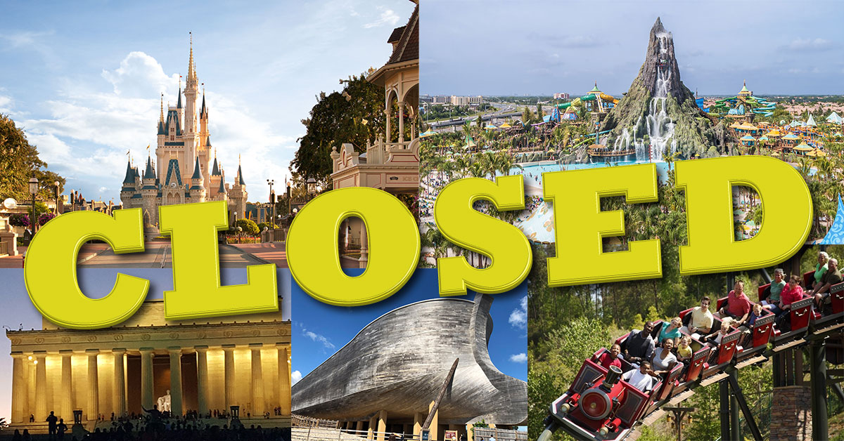 Travel Suspensions, Closings and Cancellation Policy Updates for Cruise Lines, Theme Parks, Resorts, Hotels and Attractions